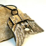 Early Steampunk Wings Pendant