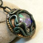 Fantasy Pendant with Faux Opal Gem, this was so cool!