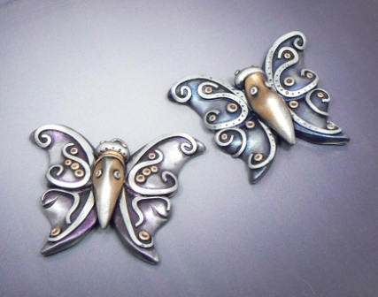 Swirled Butterfly Pendants