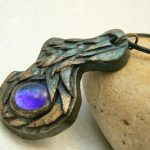 Fantasy Amulet with Blue Gem