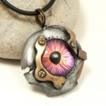 Purple Cyberpunk Eye Necklace