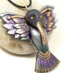 Purple Steampunk Hummingbird #20