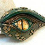Dragon Eye in Green and Gold