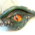Dragon Eye in Orange and Teal