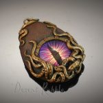 Mauve dragon's eye steampunk porthole