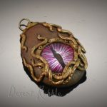 pink dragon's eye steampunk porthole