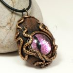 Steampunk Octopus Dragon Eye, pink