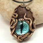 Steampunk Octopus Dragon Eye, teal