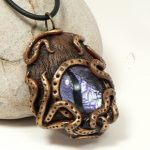 Steampunk Octopus Dragon Eye, purple