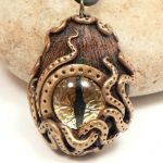 Steampunk Octopus Golden Dragon Eye