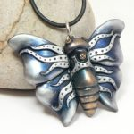 Punk Blue Butterfly Pendant