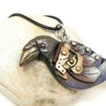 Steampunk JewelryCrow Pendant #16