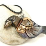 Steampunk JewelryCrow Pendant #17