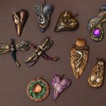 eclectic heart pendants #9