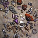 eclectic heart pendants #10